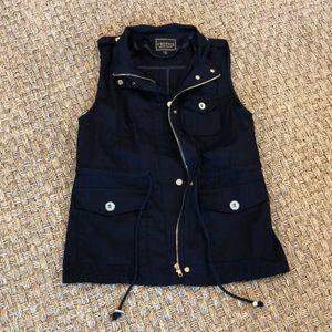 Jackets & Blazers - C'Esttoi Navy Utility Vest NWOT